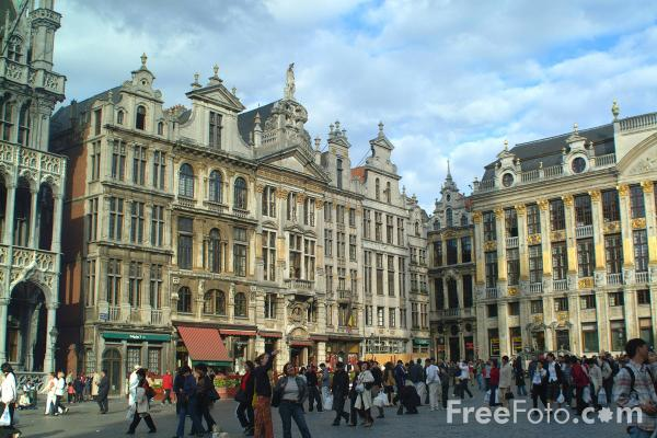 Picture of Guild Houses in the Grand Place, Brussels, Belgium - Free Pictures - FreeFoto.com