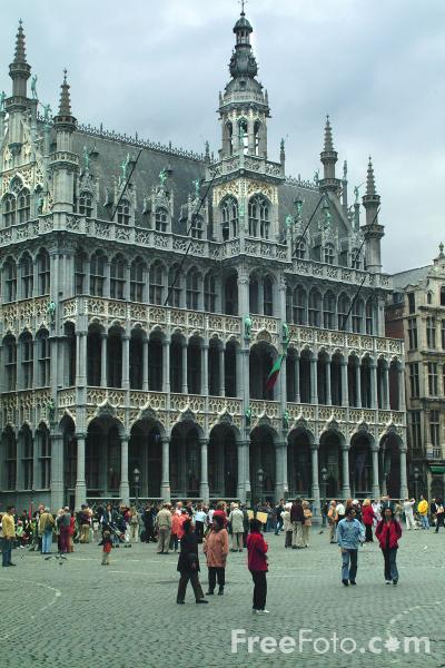 Picture of The King's House, Grand Place - The Maison du Roi, Grote Markt, Brussels, Belgium - Free Pictures - FreeFoto.com