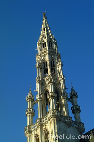 Picture of The City Hall, Grand Place - Hotel de Ville, Grote Markt, Brussels, Belgium - Free Pictures - FreeFoto.com