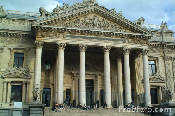 Picture of Belgium Stock Exchange, Brussels, Belgium - Free Pictures - FreeFoto.com