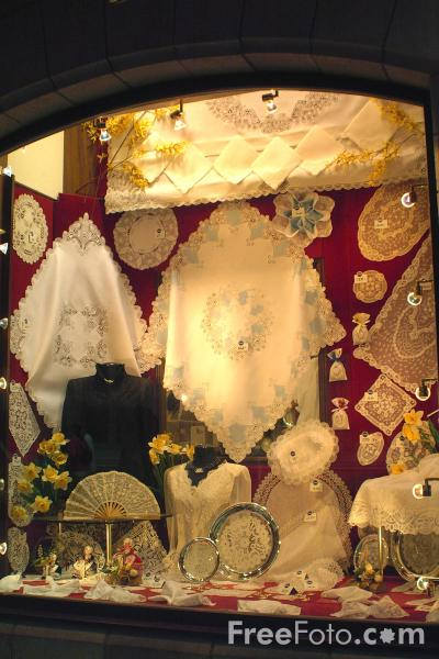 Picture of Lace Shop, Brussels, Belgium - Free Pictures - FreeFoto.com