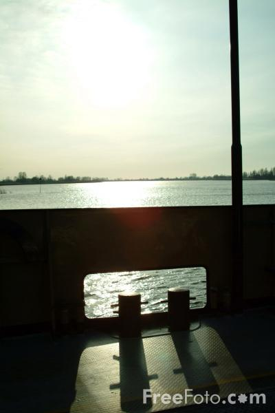 Picture of Ferry, River Lek, Holland - The Netherlands - Free Pictures - FreeFoto.com