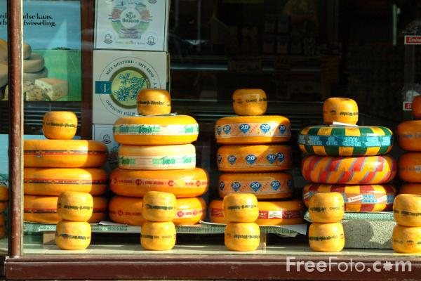 Picture of Cheese Shop, Volendam, Holland - Free Pictures - FreeFoto.com