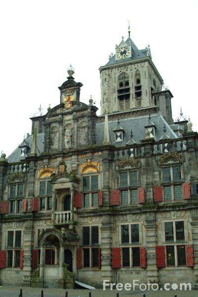Picture of Renaissance Town Hall Stadhuis, Delft, Holland - Free Pictures - FreeFoto.com