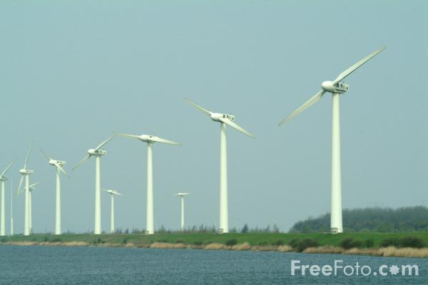 Picture of Wind Farm Zeeland Kreekrak, The Netherlands - Free Pictures - FreeFoto.com