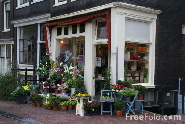 Picture of Flower Shop, Amsterdam, The Netherlands - Free Pictures - FreeFoto.com