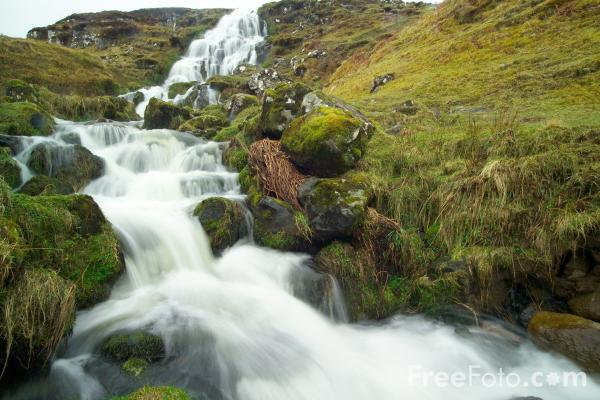 Picture of Bride's Veil Waterfall, Isle of Skye, Scotland - Free Pictures - FreeFoto.com