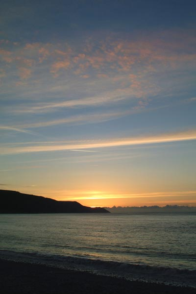 Picture of Sunset, Porlock Bay, Somerset - Free Pictures - FreeFoto.com