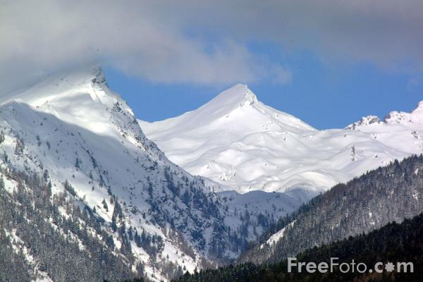 Picture of Snow Covered Mountain, Carinthia, Austria - Free Pictures - FreeFoto.com
