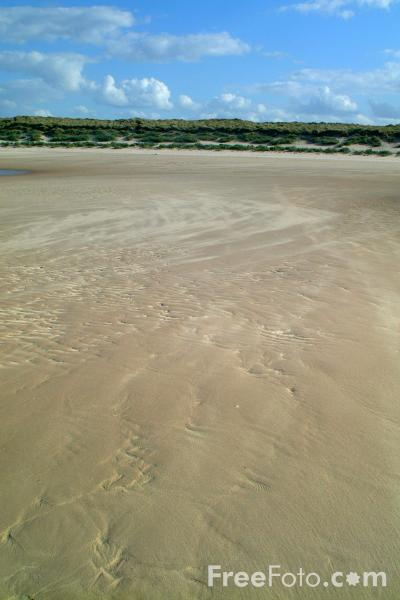 Picture of The Beach, Bamburgh, Northumberland - Free Pictures - FreeFoto.com