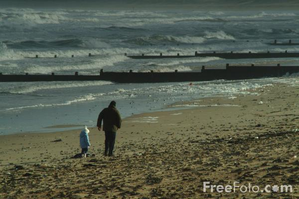 Picture of A walk on the beech, Blyth, Northumberland - Free Pictures - FreeFoto.com