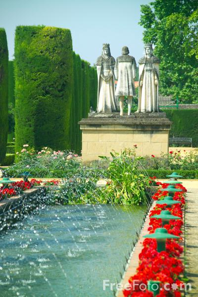 Picture of Alcazar de los Reyes Cristianos - The Alcazar of the Christian Kings Gardens - Free Pictures - FreeFoto.com
