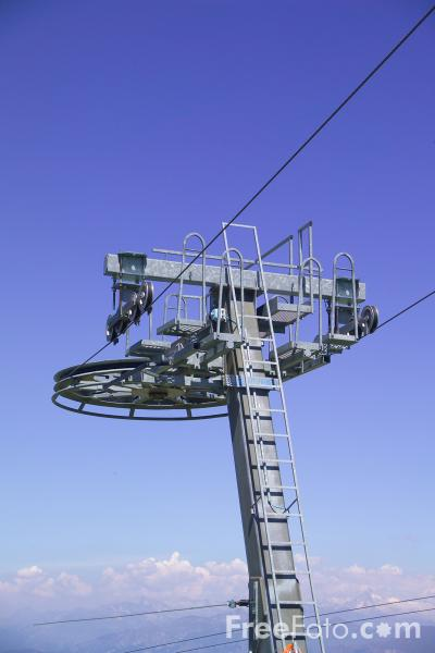 Picture of Chair Lift, Monte Baldo, Lake Garda, Italy - Free Pictures - FreeFoto.com