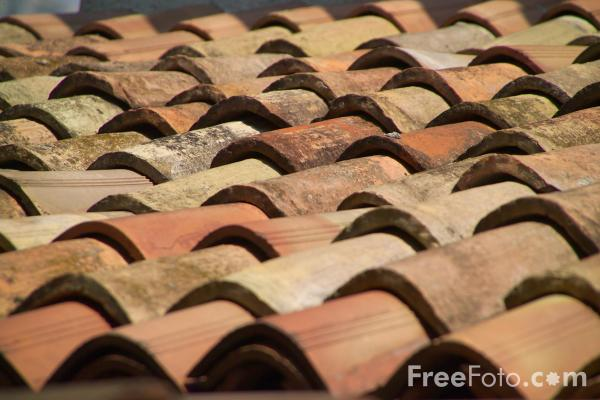 Picture of Tiled Roof, Limone, Lake Garda, Italy - Limone sul Garda, Lago di Garda, Italia - Free Pictures - FreeFoto.com