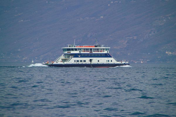Picture of Car Ferry, Lake Garda, Italy - Traghetto, Lago di Garda, Italia - Free Pictures - FreeFoto.com