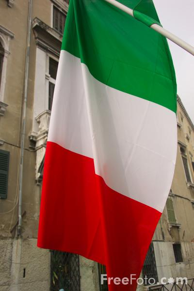 Picture of Italian Flag - Free Pictures - FreeFoto.com