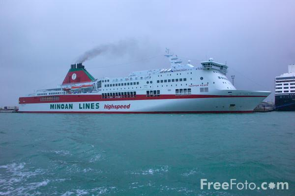 Picture of Minoan Lines Highspeed Ferry, Venice, Italy - Venezia, Italia - Free Pictures - FreeFoto.com