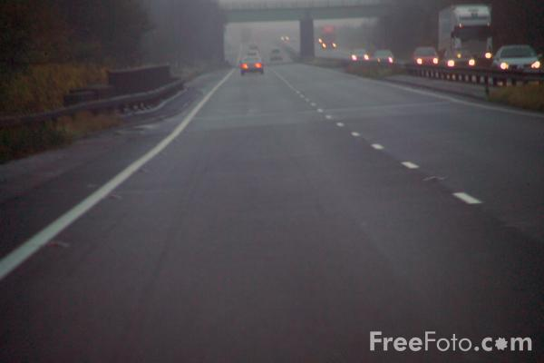 Picture of Road in the Fog - Free Pictures - FreeFoto.com