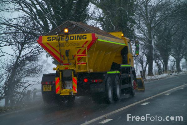 Picture of Snow Plough, A66, North Yorkshire - Free Pictures - FreeFoto.com