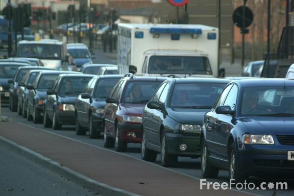 Picture of Traffic Chaos after the closure of the Redheugh Bridge, Newcastle upon Tyne - Free Pictures - FreeFoto.com