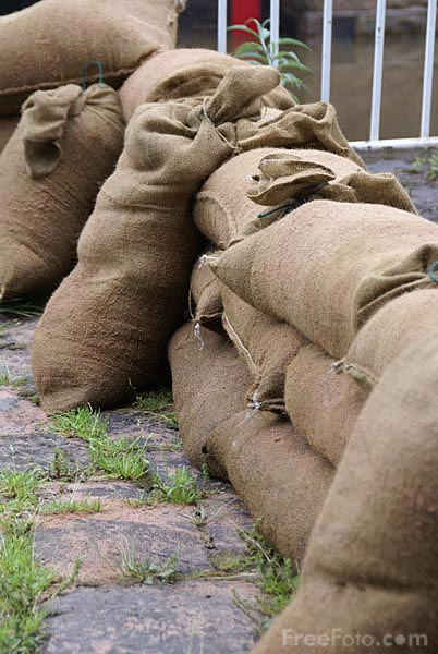 Picture of Sandbags - Free Pictures - FreeFoto.com