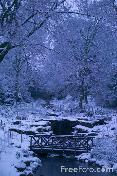 Picture of Winter Scene, Saltwell Park, Gateshead, Tyne and Wear - Free Pictures - FreeFoto.com