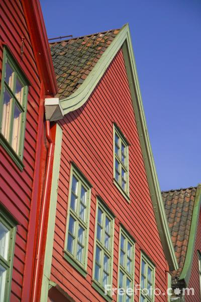 Picture of The Hanseatic Wharf, Bergen, Norway - Free Pictures - FreeFoto.com