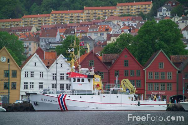 Picture of Fishing Boat, The Waterfront, Bergen, Norway - Free Pictures - FreeFoto.com