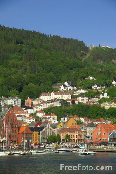 Picture of The Waterfront, Bergen, Norway - Free Pictures - FreeFoto.com