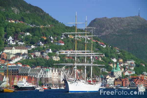 Picture of Statsraad Lehmkuhl, Bergen, Norway - Free Pictures - FreeFoto.com