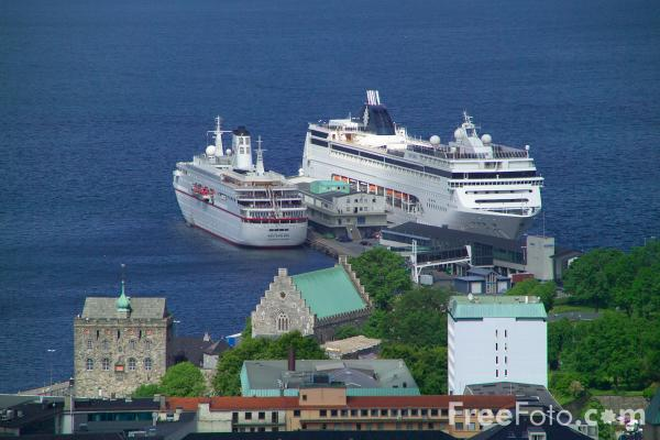 Picture of The Port of Bergen, Norway - Free Pictures - FreeFoto.com