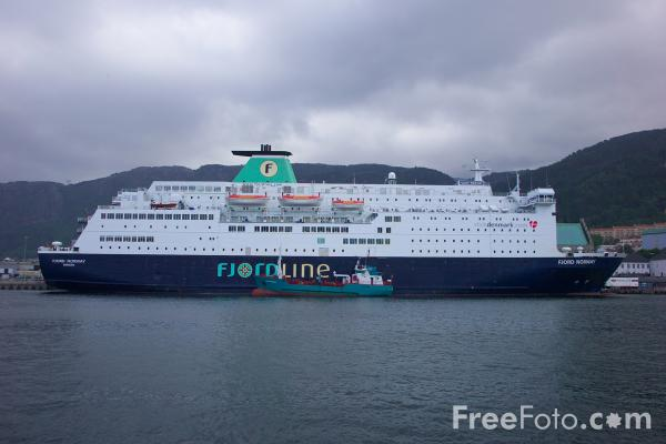 Picture of MS Fjord Norway, Fjord Line, The Port of Bergen, Norway - Free Pictures - FreeFoto.com