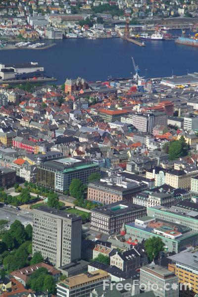 Picture of Cityscape, Bergen, Norway - Free Pictures - FreeFoto.com