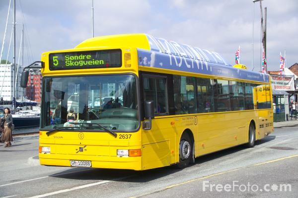 Picture of Public Transport, Bergen, Norway - Free Pictures - FreeFoto.com