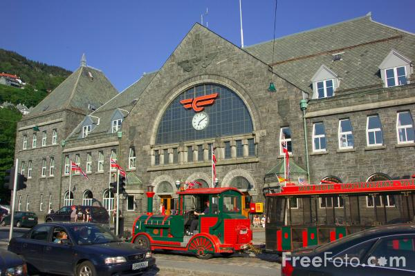 Picture of Railway Station, Bergen, Norway - Free Pictures - FreeFoto.com