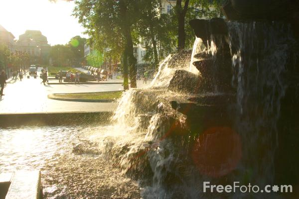 Picture of Fountain, Bergen, Norway - Free Pictures - FreeFoto.com
