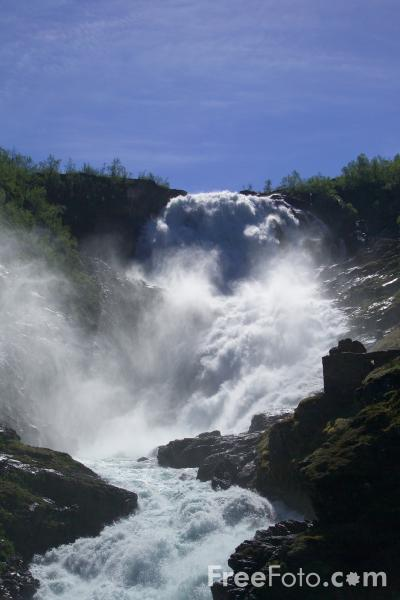 Picture of Kjosfossen Waterfall, Norway - Free Pictures - FreeFoto.com