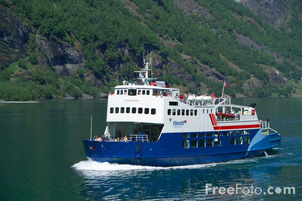 Picture of Fjord1 Ferry, Aurlandsfjord, Norway - Free Pictures - FreeFoto.com