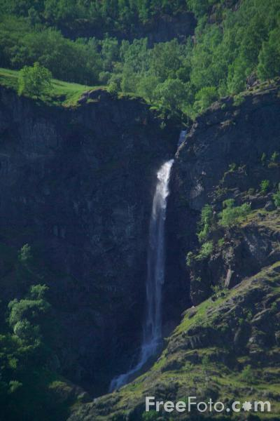 Picture of Waterfall, Aurlandsfjord, Norway - Free Pictures - FreeFoto.com