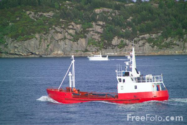 Picture of Boat near Bergen, Norway - Free Pictures - FreeFoto.com