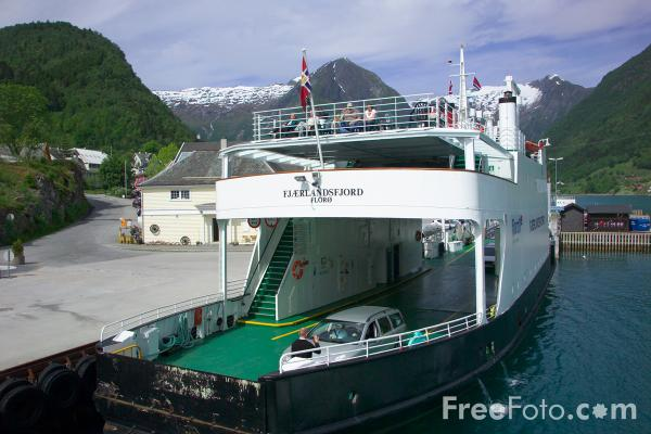 Picture of Car Ferry, Balestrand, Sognefjord, Norway - Free Pictures - FreeFoto.com