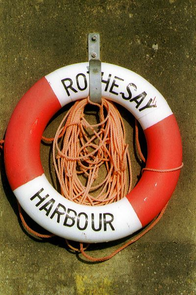 Picture of Lifebelt, Rothesay Harbour - Free Pictures - FreeFoto.com