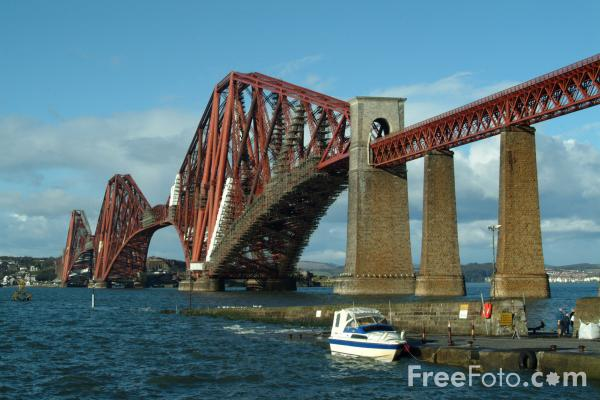Picture of The Forth Rail Bridge - Free Pictures - FreeFoto.com