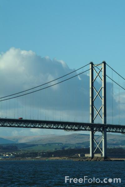 Picture of The Forth Road Bridge - Free Pictures - FreeFoto.com