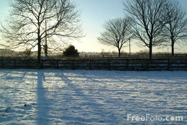 Picture of Winter Scene, Northumbria, England - Free Pictures - FreeFoto.com