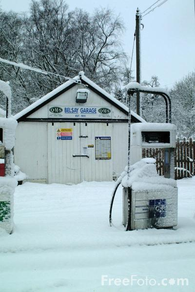 Picture of Petrol Station, Belsay, Northumberland - Free Pictures - FreeFoto.com