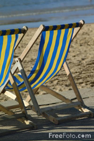 Picture of Deck Chair - Summer - Free Pictures - FreeFoto.com