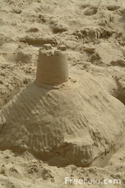 Picture of Sandcastle - Free Pictures - FreeFoto.com