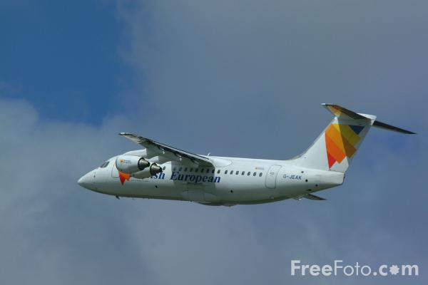 Picture of British European Airways Bae 146-200 G-JEAK Pride of Birmingham - Free Pictures - FreeFoto.com