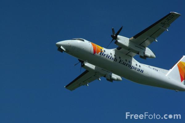 Picture of British European Airways DeHavilland Dash 8-201 G-JEDX - Free Pictures - FreeFoto.com